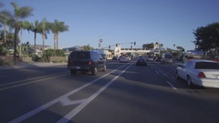 Driving Under The Dana Point Bridge During Christmas Stock Footage