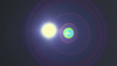 The bright light with flare and linear beam ray Stock Footage