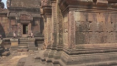 Siem Reap Banteay Srei Temple, Cambodia Stock Footage