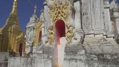 Walking in Shwe Inn Thein Paya temple complex Stock Footage