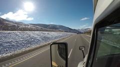 Exterior Semi-Truck - Rural Utah Interstate  Stock Footage