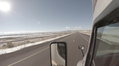 Exterior Semi-Truck - Protune - Rural Wyoming Interstate  Stock Footage