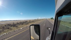 Exterior Semi-Truck - Rural Wyoming Interstate  Stock Footage