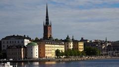 Wrangel Palace in Stockholm. Sweden. 4K. Stock Footage