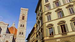 A view of the Basilica of Santa Maria del Fiore in Florence, Italy Stock Footage