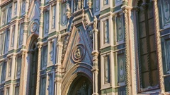 Closeup view of the Basilica of Santa Maria del Fiore in Florence Stock Footage