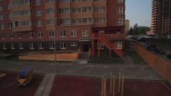 Kindergartens and school buildings. The development of new Moscow Stock Footage