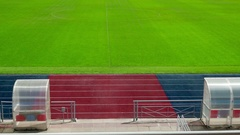 Concept Sport - Empty Stadium Before or After Competition. Dolly left Right Stock Footage