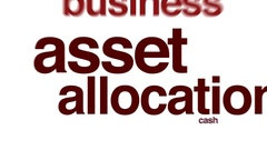 Asset allocation animated word cloud. Stock Footage