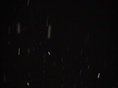 Failing snow black background Stock Footage