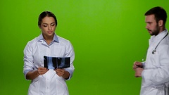 To nurse is suitable doctor in x-ray view. Studio Stock Footage