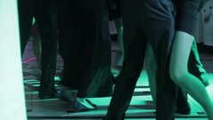 People dance at wedding party Stock Footage
