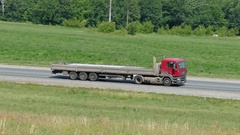 Truck driving on a road, 4k Stock Footage