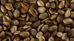 Close up of shelled peanuts rotating. Stock Footage