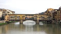 Ponte Vecchio, Old Bridge, Florence, Italy. 4K. Stock Footage