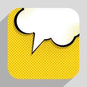 Speech Bubble Pop Art Background On Dot Background Vector Illust Stock Illustration