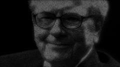 Warren Buffett business man Stock Footage
