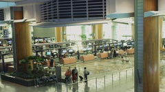 Time Lapse Singapore Airport Boarding Pass Counter Full HD Loopable Stock Footage