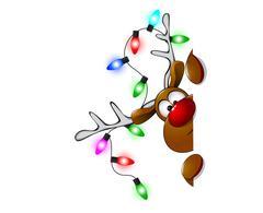 Cute Christmas reindeer Rudolf  Piirros