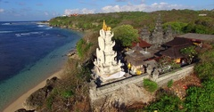 Geger temple. Ancient balinese temple. Uncrowded place. Bali, Indonesia. Stock Footage