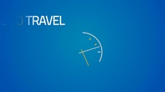 Animated business inscription time to travel Stock Footage
