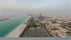 Abu Dhabi Corniche Stock Footage