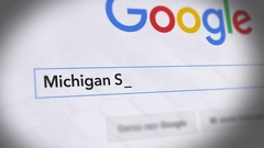 Google Search Engine - Search For Michigan State University Stock Footage
