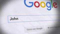 Google Search Engine - Search For John Dalton Stock Footage