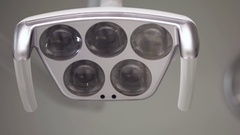 Stomatology equipment. dental lamp spotlight Stock Footage