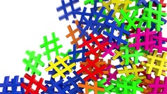 Hash tag hashtag fill tweet twitter social media network post label pound 4k Stock Footage