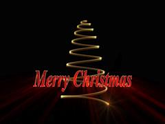 Light Created Christmas Tree 4K Stock Footage