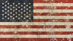 Old grunge vintage faded American US flag Piirros