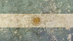 Old grunge faded vintage Argentine Republic flag Stock Illustration