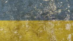 Old grunge vintage faded flag of Ukraine Stock Illustration