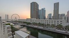 Sharjah Al Qasba Stock Footage
