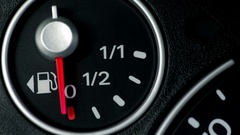 Car fuel gauge detail Stock Footage
