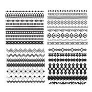 Set of vector borders and lines. Design geometric elements Stock Illustration