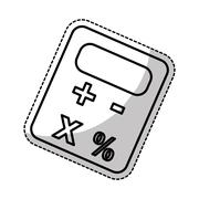Calculator pictogram icon image Stock Illustration