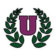 University icon with decorative wreath Stock Illustration