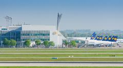 Munich Airport serves as the secondary hub for Lufthansa Kuvituskuvat