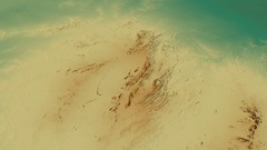 Revolution around Macdonnell mountain range - masks. Relief map Stock Footage