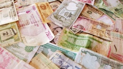 Currency Notes from all Over the World Stock Footage