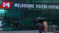 Melbourne Visitor Centre, Federation Square Stock Footage