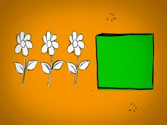 Flowers - Hand Drawn - Caucasian Hand - green screen - yellow - SD Stock Footage