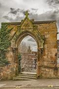 Glasgow Rottenrow Gardens Entrance Stock Photos