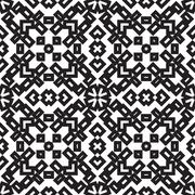 Abstract embroidery geometric seamless pattern Stock Illustration