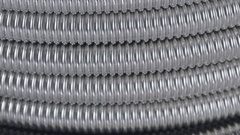 Macro texture metal corrugated tube Stock Footage
