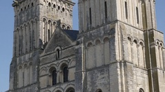 CAEN, FRANCE - JULY 2016 Famous Womens Abbey or Sainte-Trinite in Normandy Stock Footage
