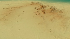 Glide over Macdonnell mountain range - masks. Relief map Stock Footage