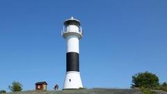 Lighthouse in the Stockholm archipelago, Sweden Stock Footage